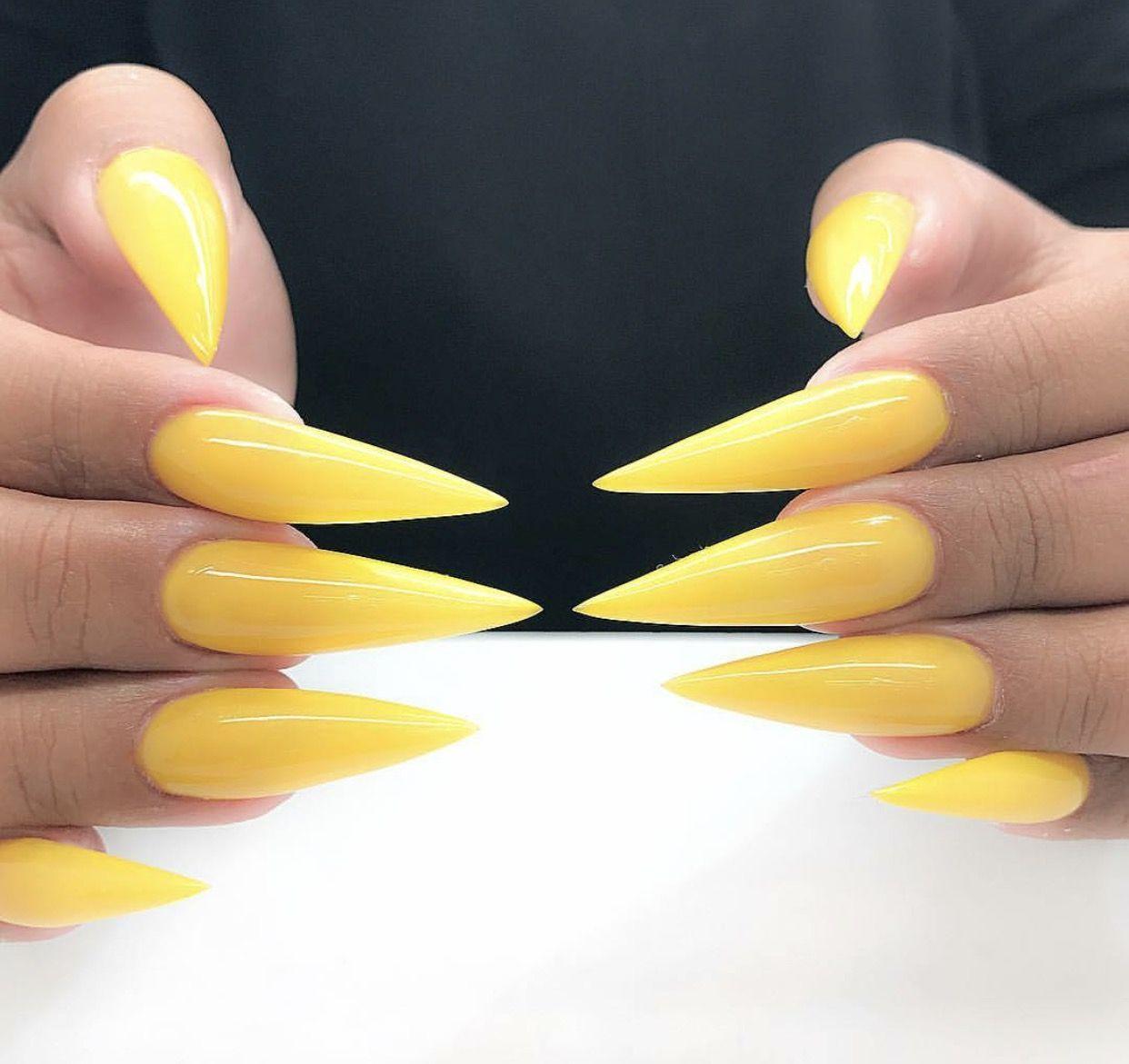 Neon Yellow Stiletto Nails Stiletto Nails Designs Blue Stiletto Nails Yellow Nails