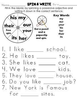 Possessive Adjectives Worksheets Posesivos En Ingles Material Escolar En Ingles Educacion Ingles