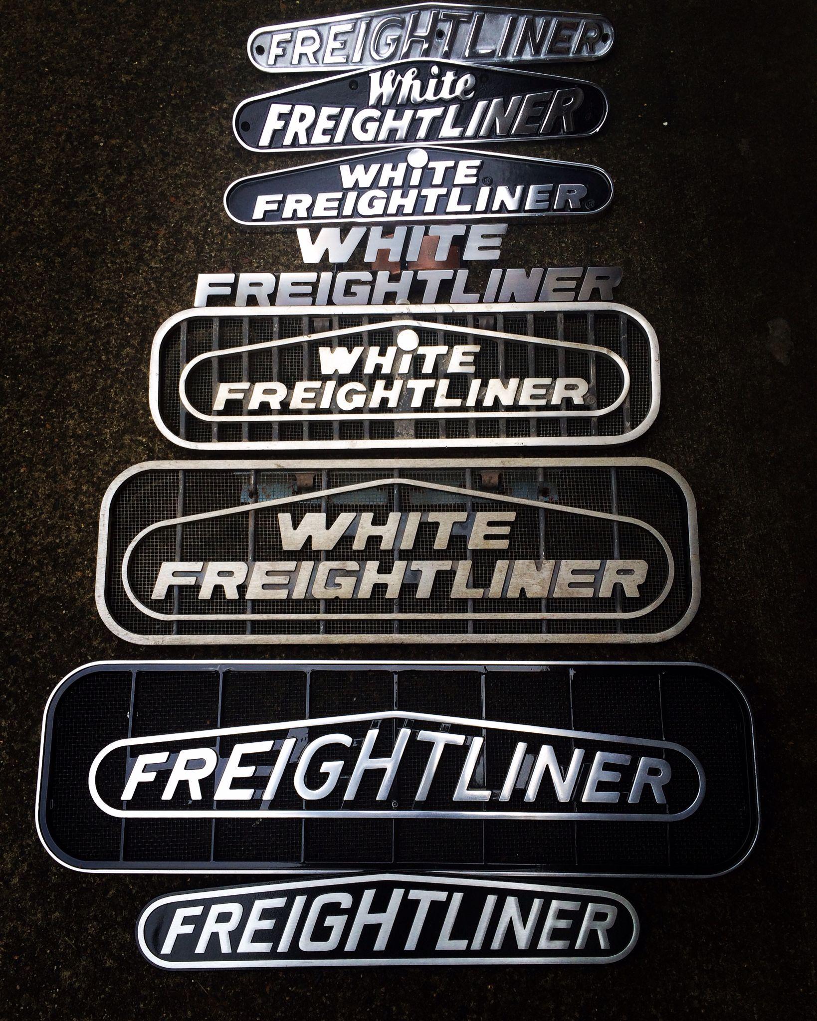 Part Of My White Freightliner Freightliner Emblem Collection Freightliner Trucks Freightliner Big Trucks