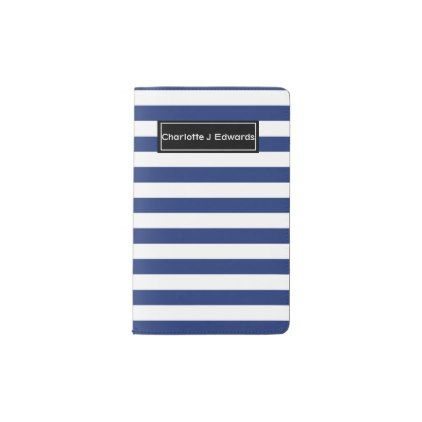 Lucky Point Blue and White Stripes Pocket Moleskine Notebook - notebook paper template