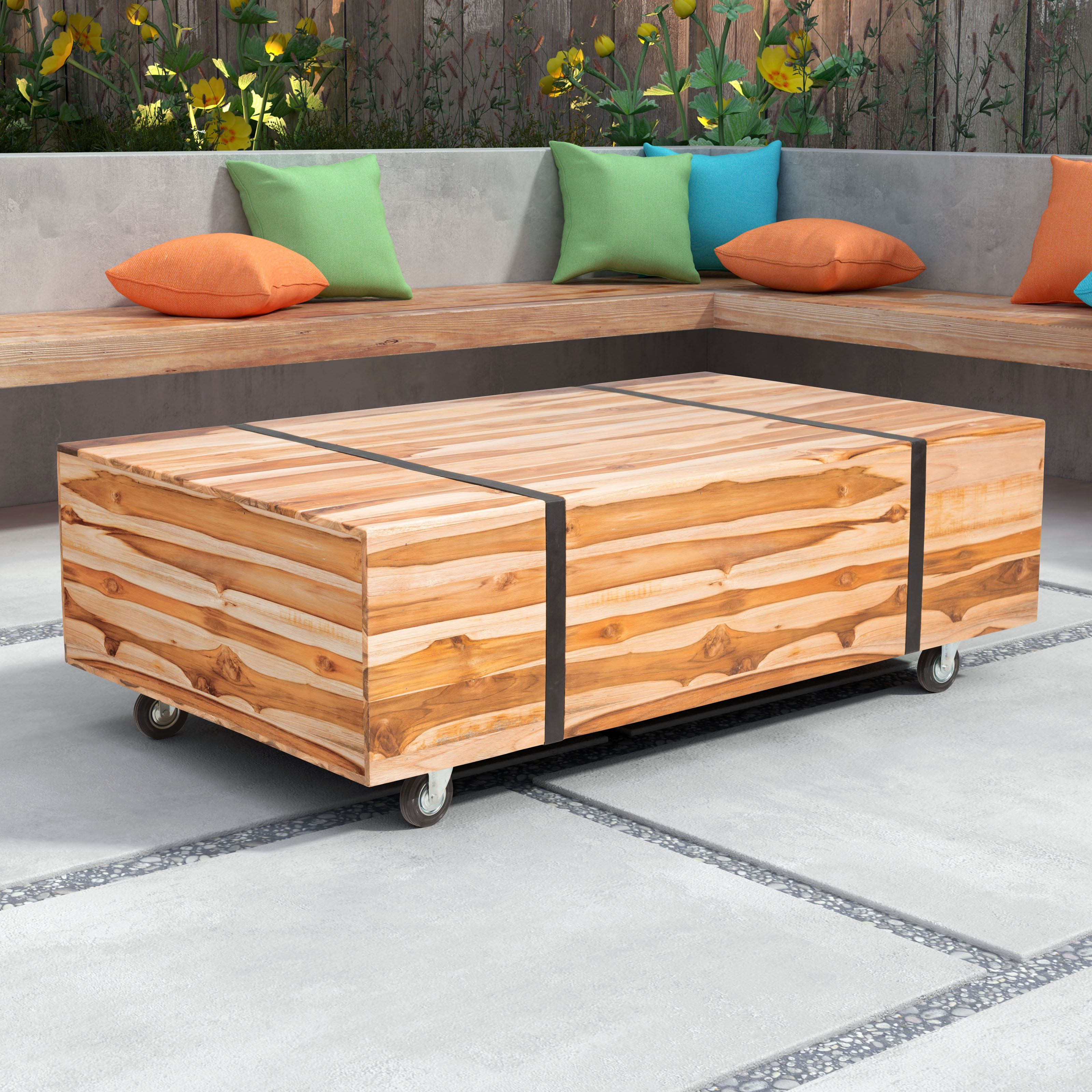 Remarkable Outdoor Zuo Vive River Coffee Table 703799 Products Customarchery Wood Chair Design Ideas Customarcherynet