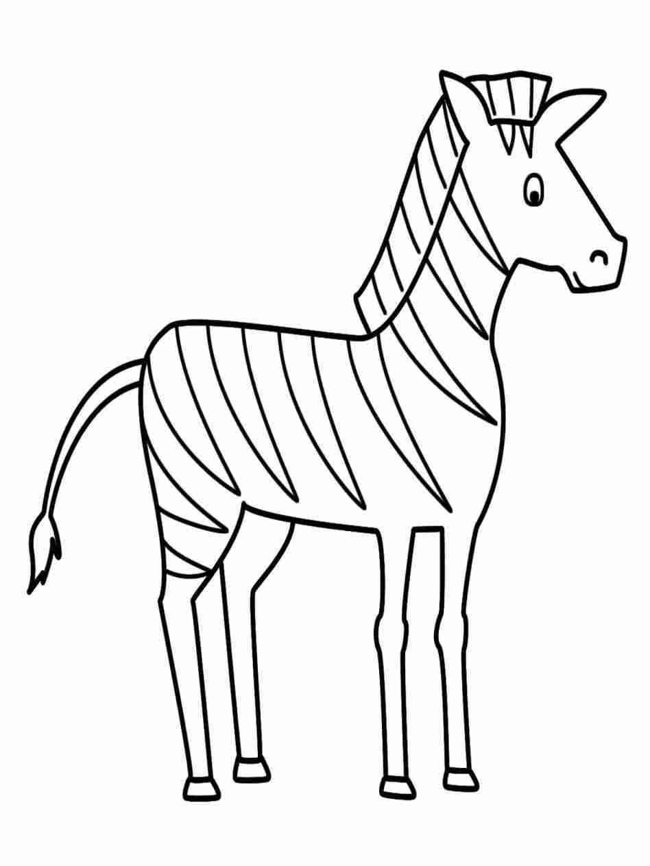 Zebra Drawing Easy Zebra Coloring Pages Zebra Drawing Animal Coloring Pages
