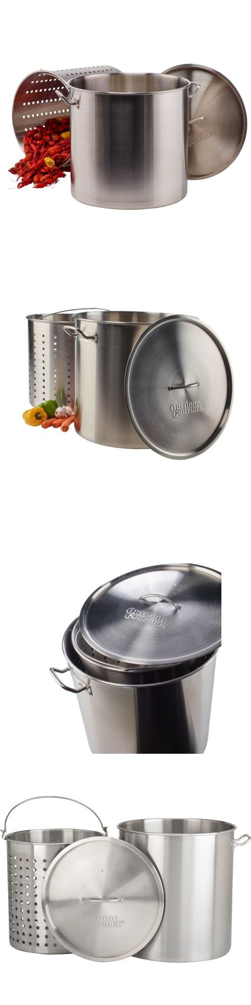 Outdoor Gourmet Pro 100 Qt Stainless Steel Pot With Strainer