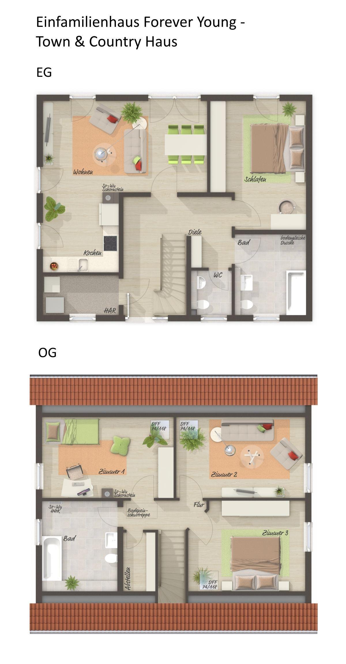 Einfamilienhaus Grundriss Rechteckig Mit Satteldach Architektur