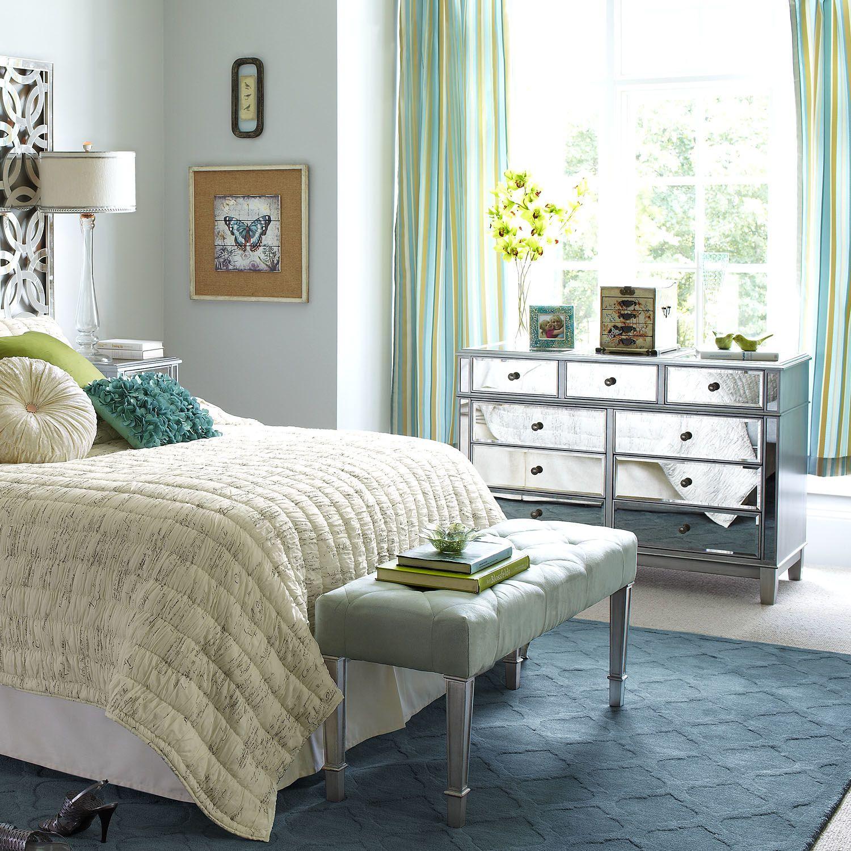 hayworth mirrored silver dresser  mirrored bedroom
