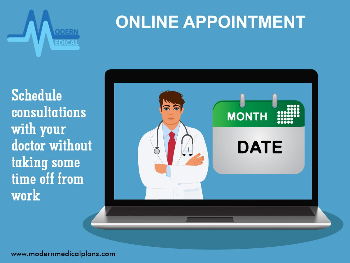 Schedule consultations with your doctor without taking