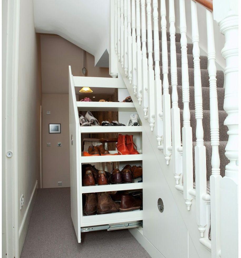 Ideas creativas para aprovechar el espacio debajo de las for Closet con escalera