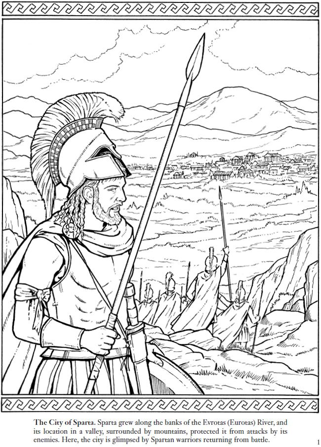 Greek Soldier Coloring Pages
