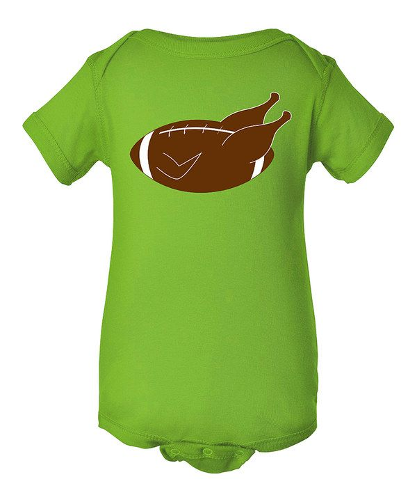 Look at this Apple Green Football Turkey Bodysuit - Infant on #zulily today!