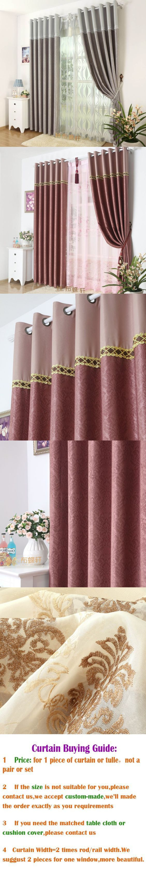 Full blackout curtain fabrics for bedroom soundproof home curtains