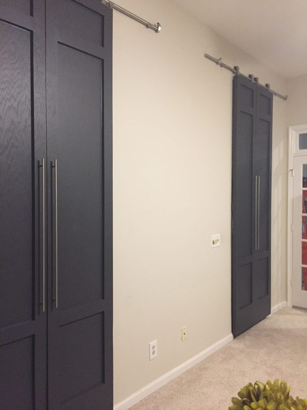 Diy Modern Style Tall Sliding Barn Doors With Pulls Part 2 Barn Door Modern Diy Barn Doors Sliding