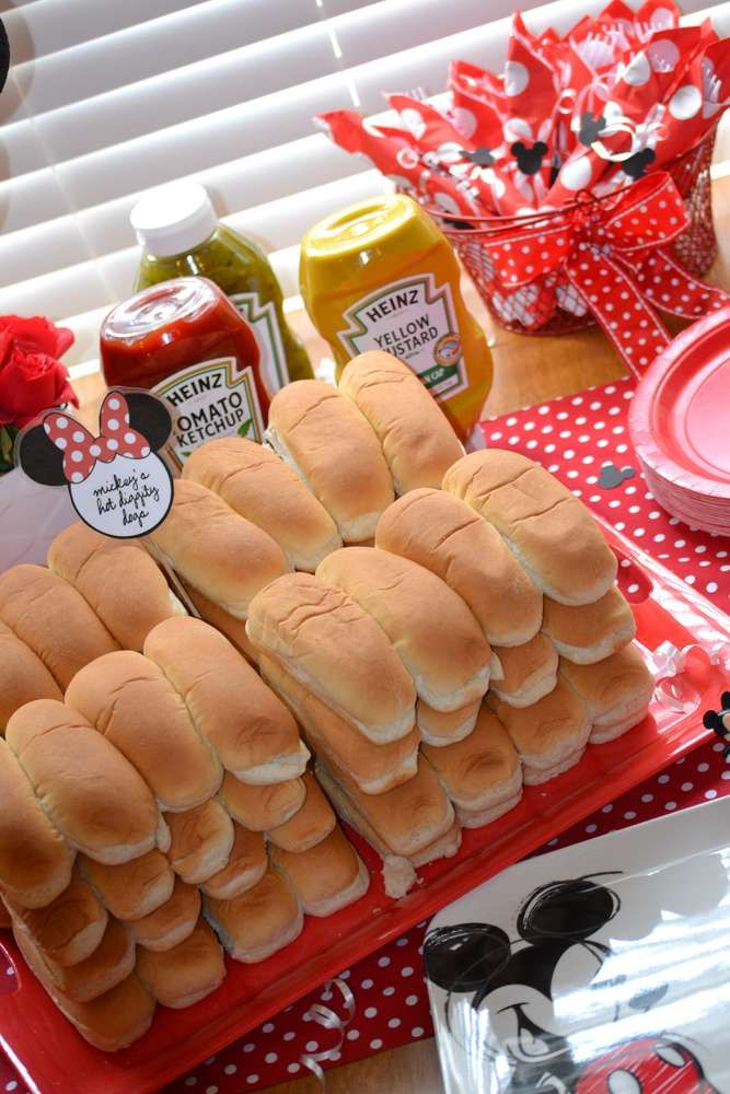 Minnie Mouse Birthday Party Ideas Photo 7 Of 35 Birthday Food Minnie Mouse Birthday Party Birthday Party Food