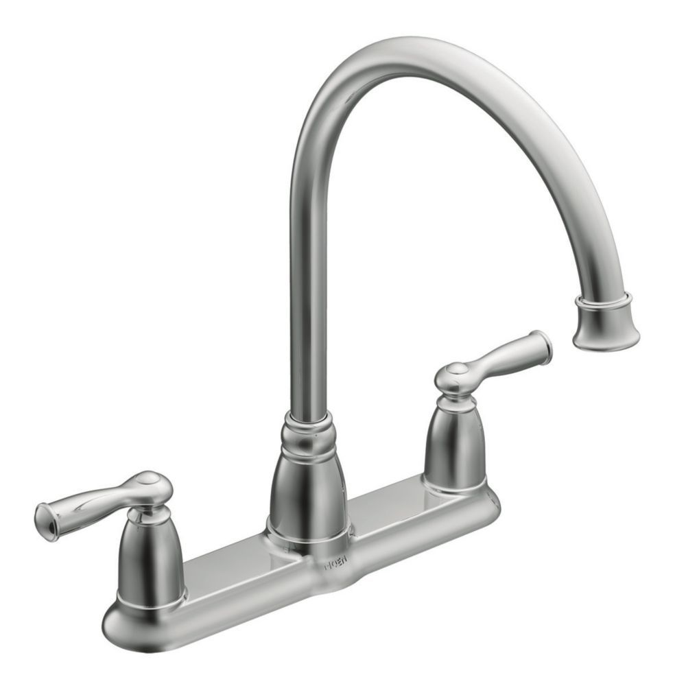 Moen Banbury 2 Handle Kitchen Faucet Chrome Finish The Home Depot Canada Cheap Kitchen Faucets High Arc Kitchen Faucet Chrome Kitchen Faucet