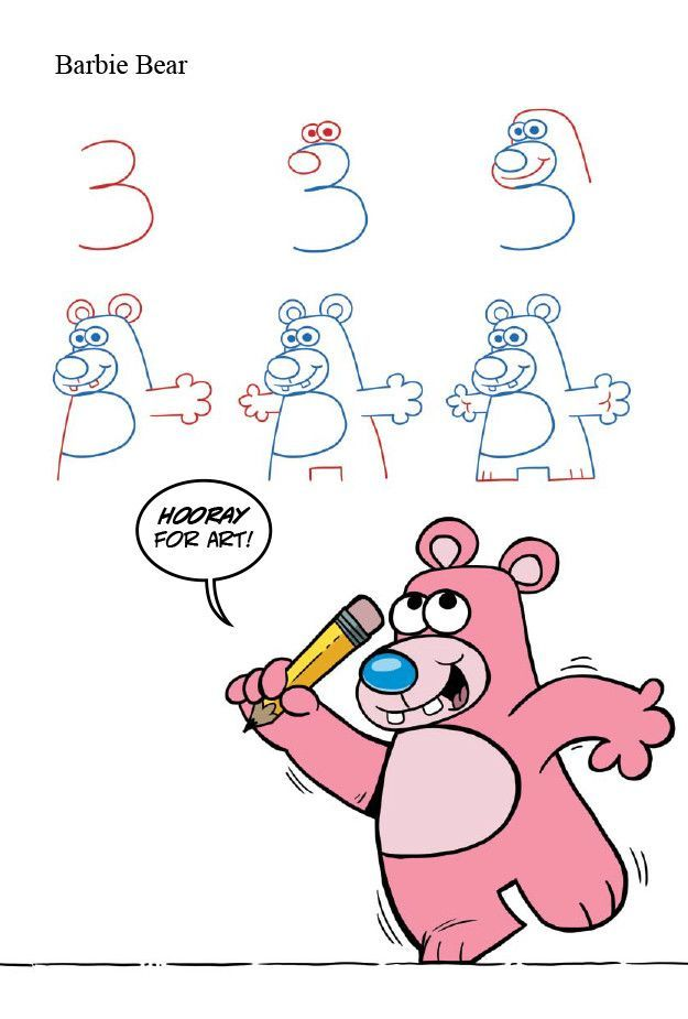 Drawing Animals With Numbers Dibujo Dibujar Y Dibujos Faciles