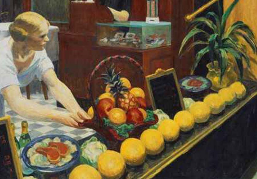 1882 New York, nace Edgar Hopper, pintor realista, sus obras hablan de la soledad y la melancolía del siglo XX en norteamérica.