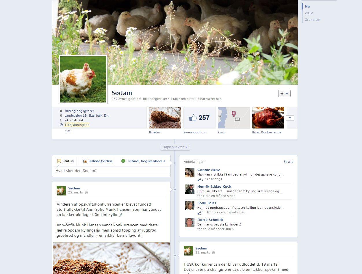 Sødam - Facebookside med apps.    Vi opdrætter økologiske kyllinger under optimale forhold på marskgården Sødam i Møgeltønder.