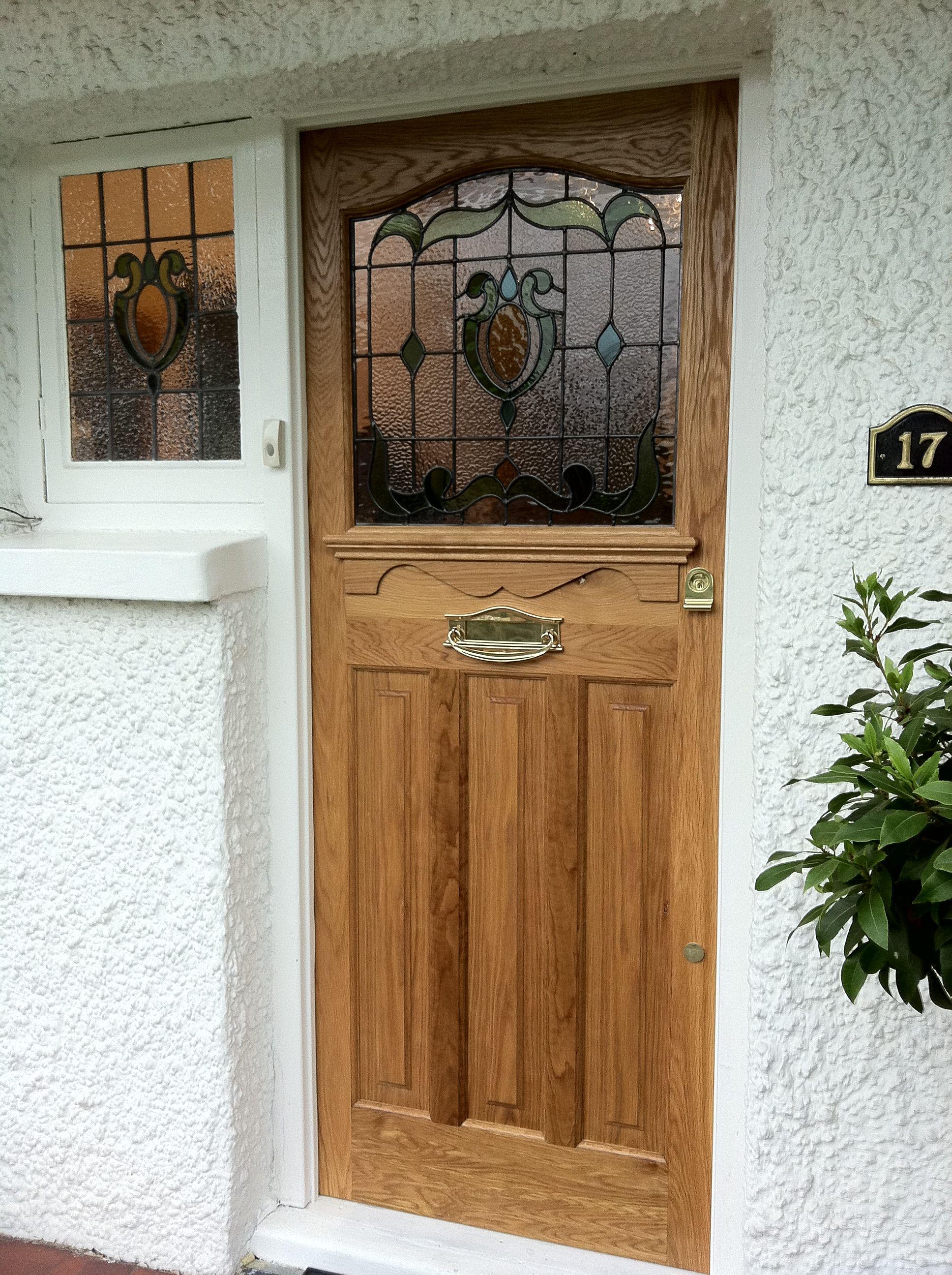 1930S Classic Front Door Made In Oak