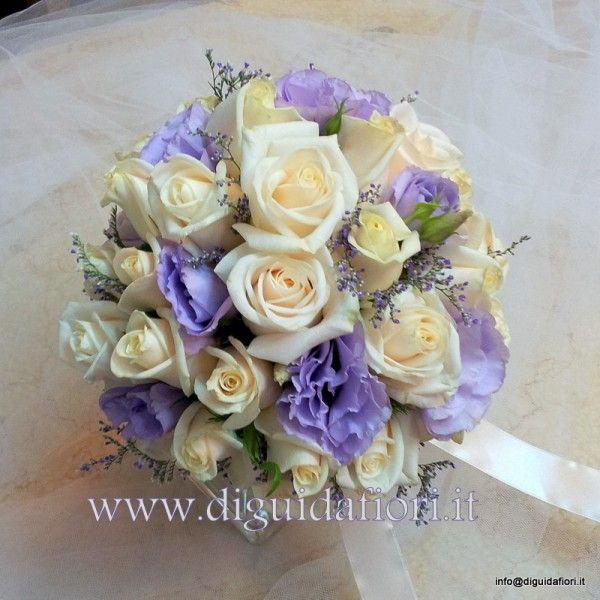 Bouquet Sposa Lisianthus E Rose.Bouquet Da Sposa Mezza Sfera Con Rose Vendela E Lisianthus