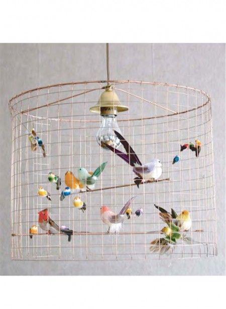 Suspension Volière cage à oiseaux par Mathieu Challières 36 cm de ...