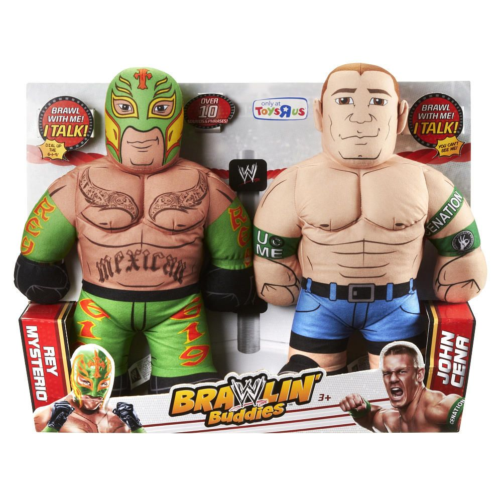 exclusive wwe brawlin buddies 2 pack mattel toys