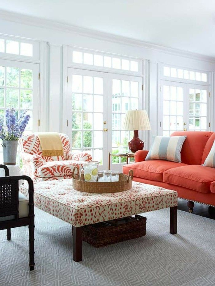 Sommer Deko schöne Vorschläge für Zimmergestaltung - Pflanzen Deko Wohnzimmer