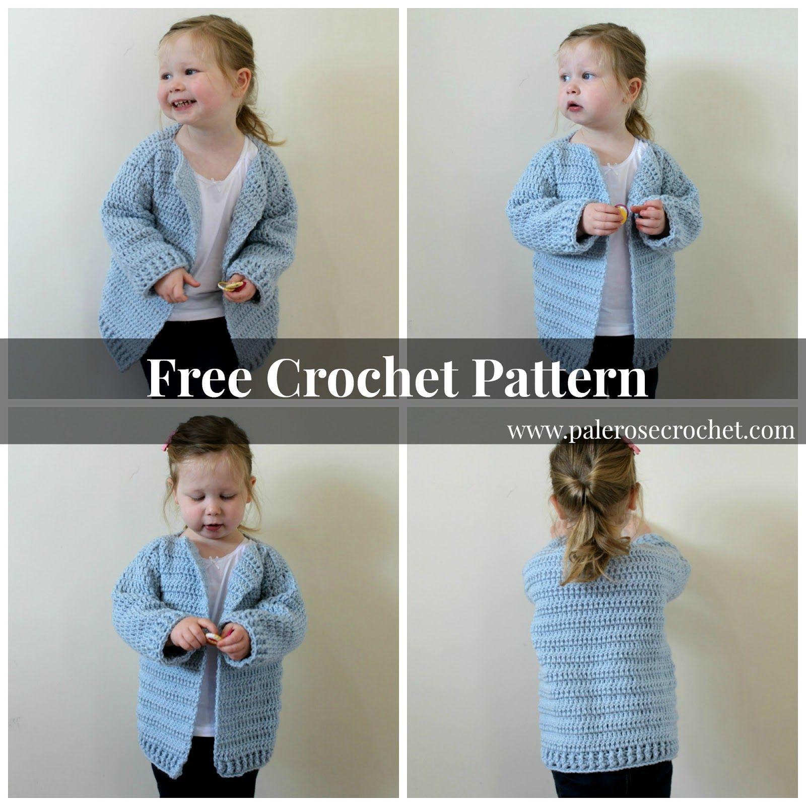 Oversized Toddler Cardigan Pattern | Pale Rose Crochet | Crochet and ...