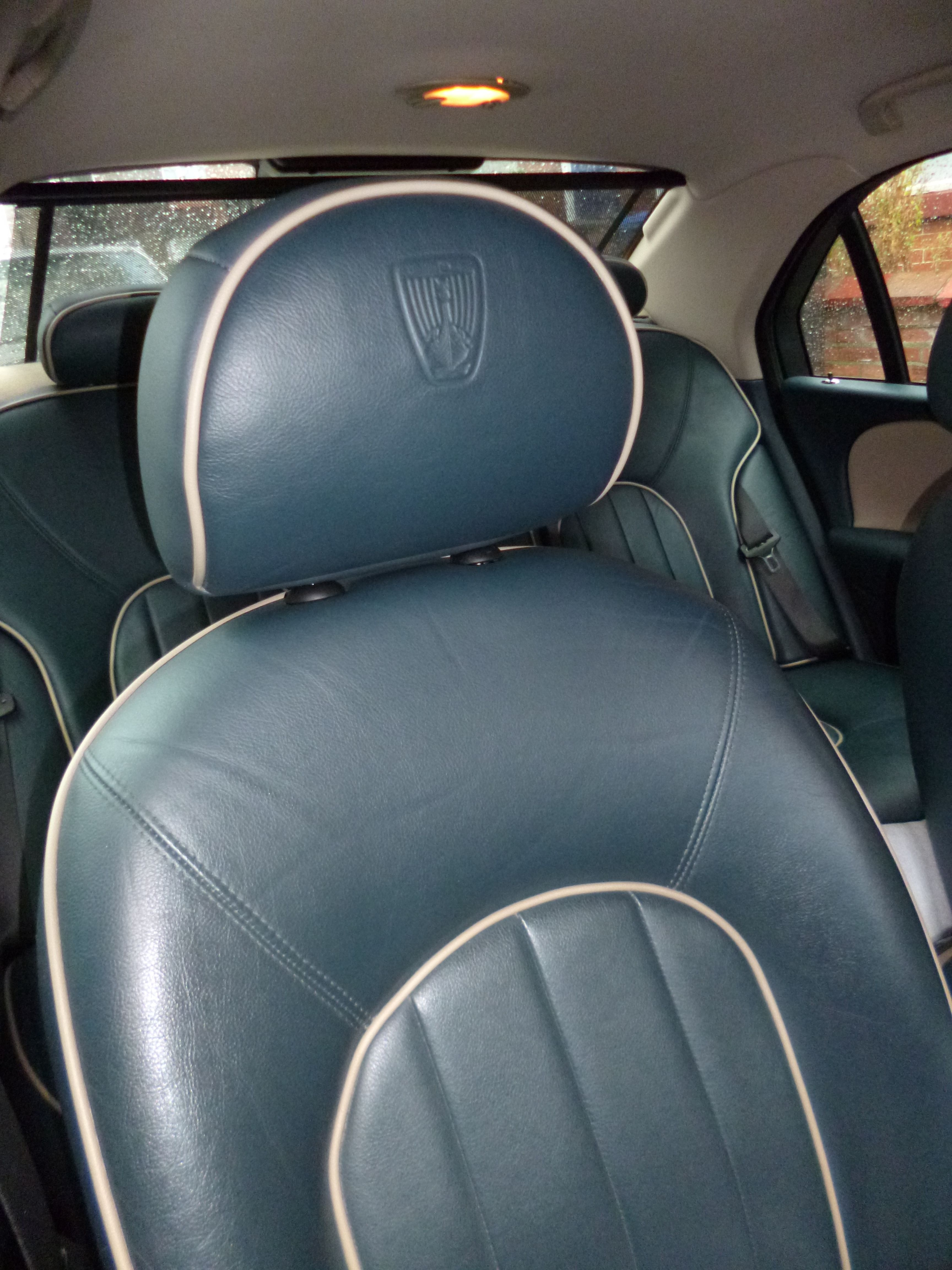 small resolution of neptune blue embossed headrest in rover 75