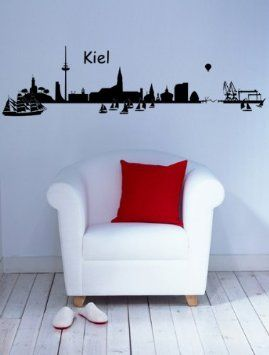 wandtattoo skyline kiel k che haushalt deko pinterest kiel skyline und. Black Bedroom Furniture Sets. Home Design Ideas