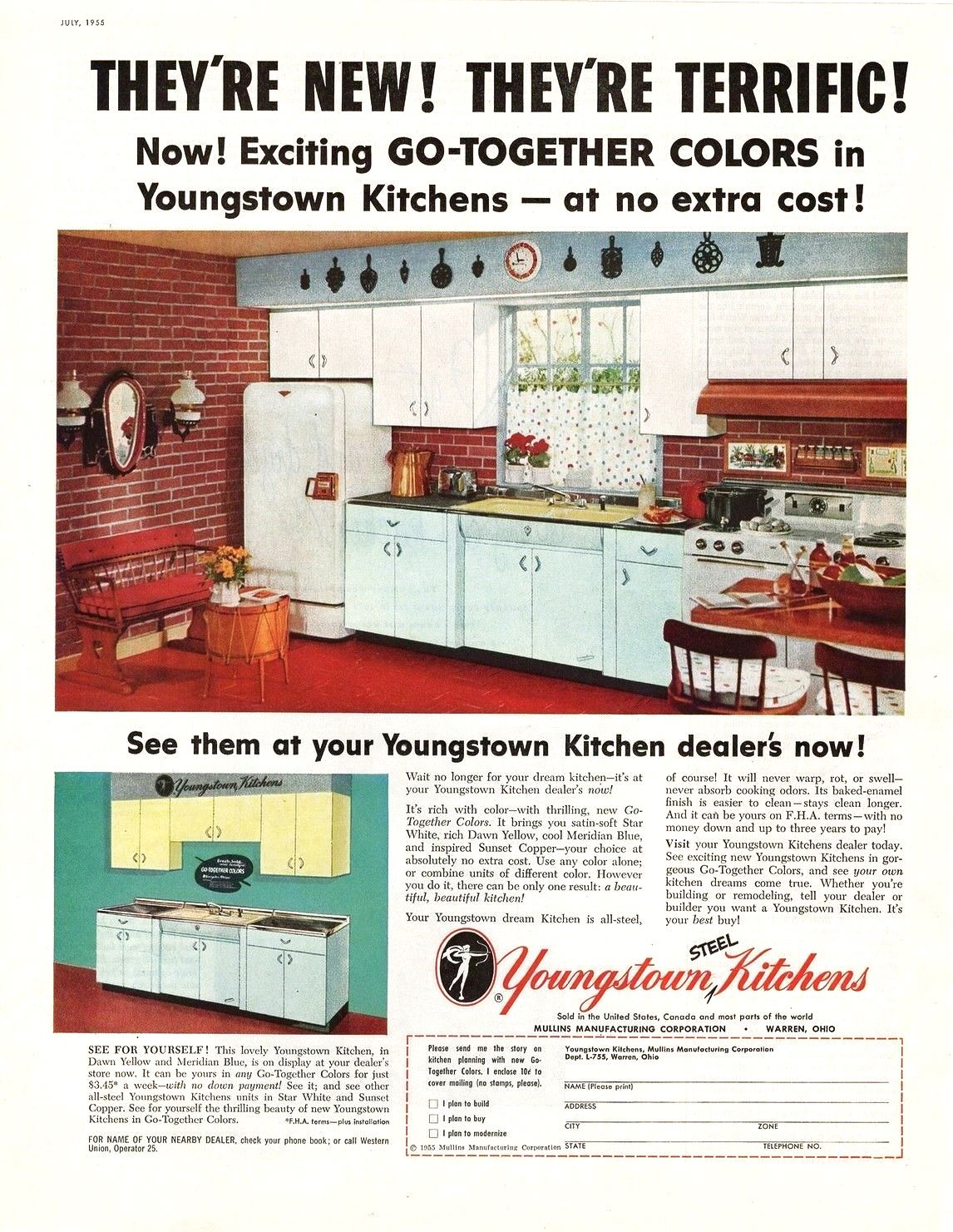 Pin By Chris G On Vintage Appliance Ads Vintage Appliances Mid Century Modern Kitchen Youngstown