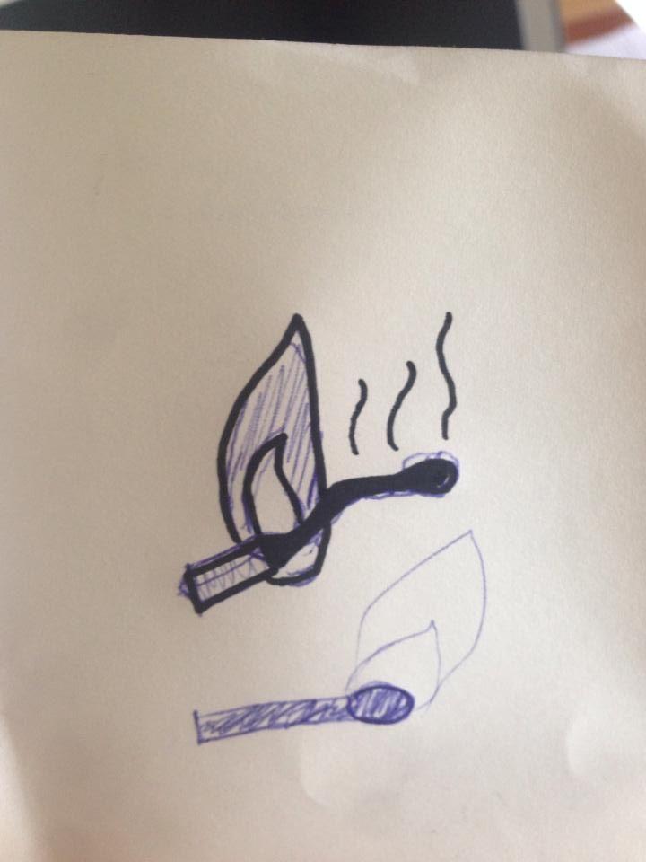 1st sketch. Icon Burnout
