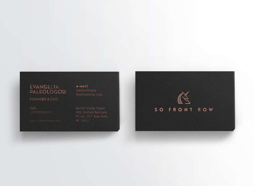 Kommigraphics - So Front Row So Front Row business cards design
