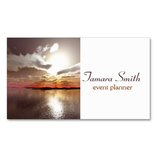 Sunset Event Planner Business Card Template Custom Business Card