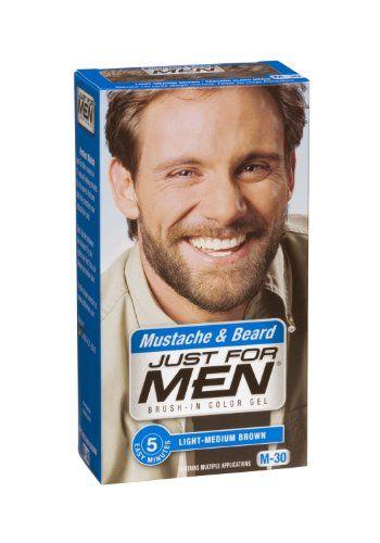 Just for Men Brush-In Color Gel for Mustache & Beard, Light-Medium ...
