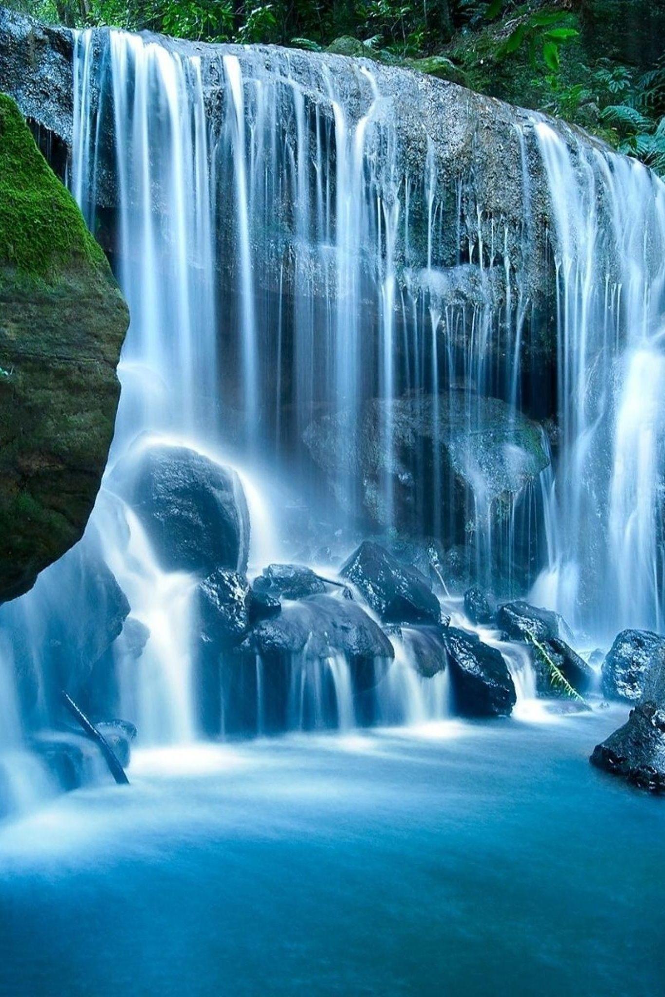 Super Awesome Scene The Best Scene Ever Waterfall Wallpaper Waterfall Mountain Waterfall