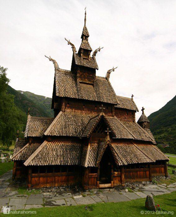 Это одна из деревянных церквей Норвегии. Деревянные церкви ...