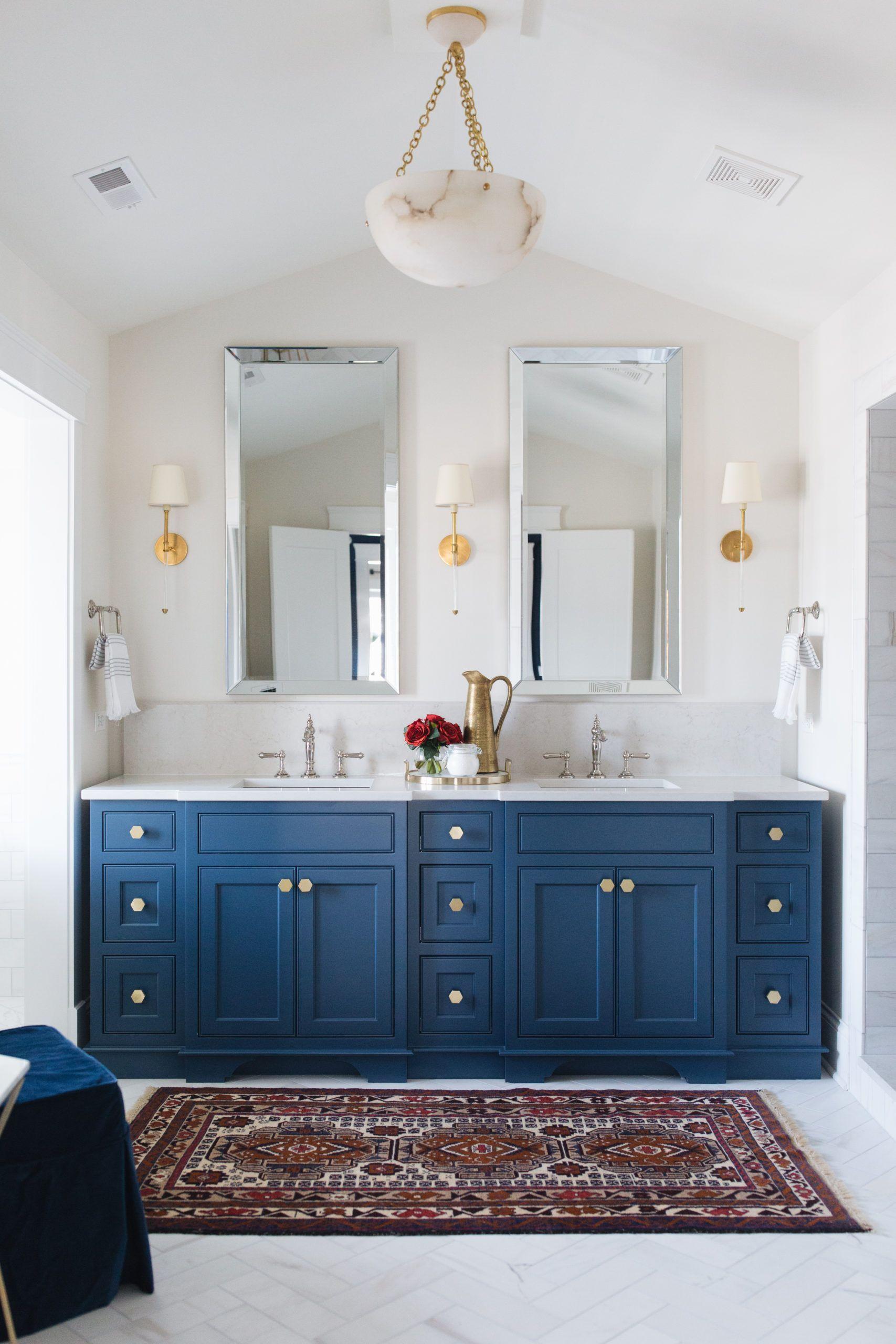 Beautiful Bathroom Decor And Design Ideas In 2021 Beautiful Bathroom Decor Double Sink Bathroom Vanity Blue Bathroom