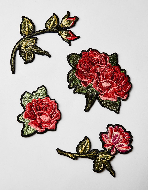 87206d083 Bershka Portugal - Conjunto 3 remendos rosa Aplique Termocolante
