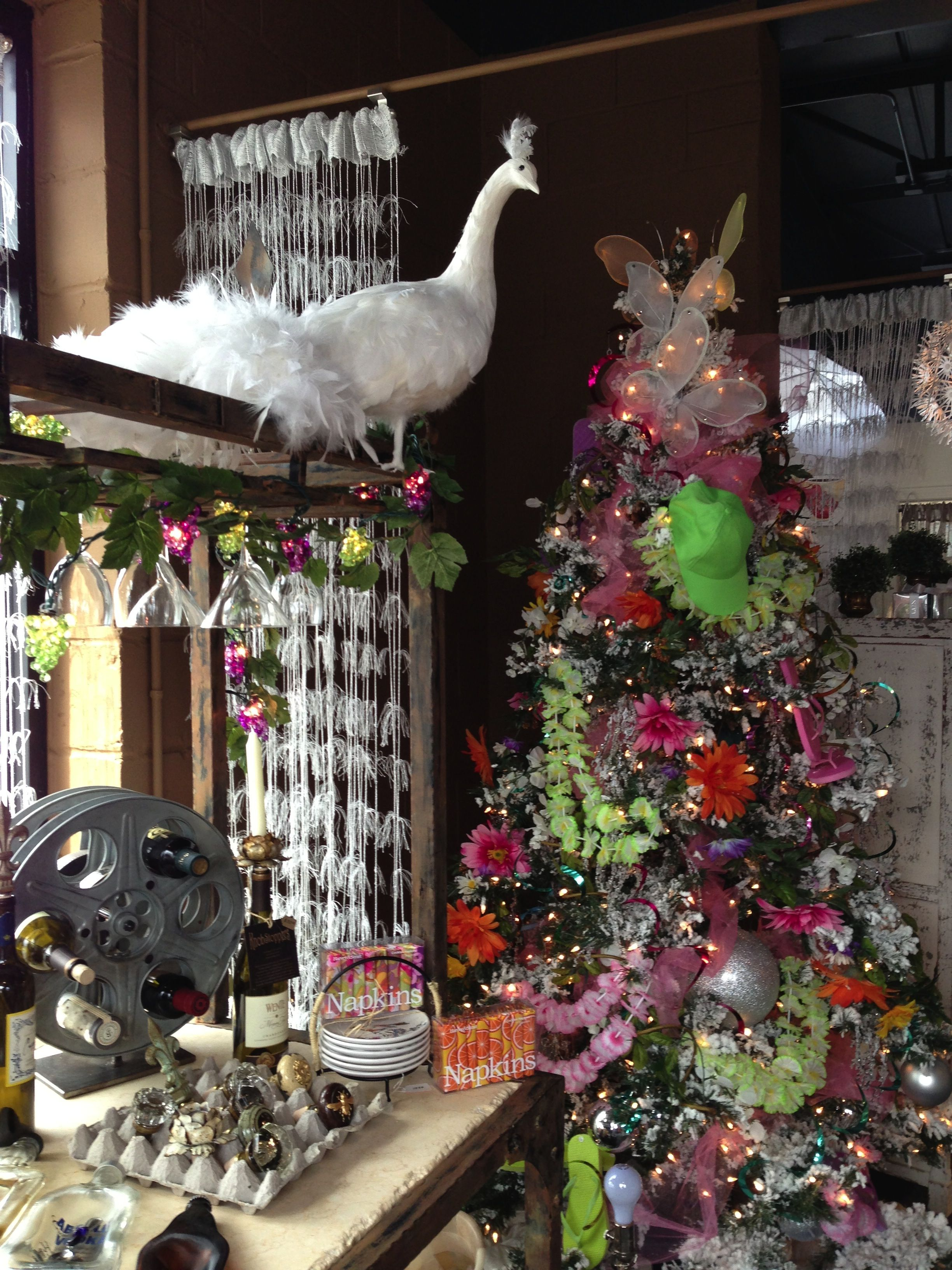 Beautiful White Peacock The Perfect Christmas Tree Topper With Our Flip Flop Christmas Tree Christmas Reflections Christmas Tree Christmas Tree Toppers