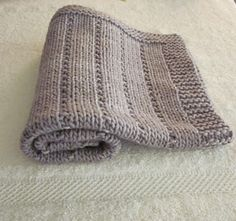 Easy... Knit And Purl; This pattern is for a baby blanket but this would make...