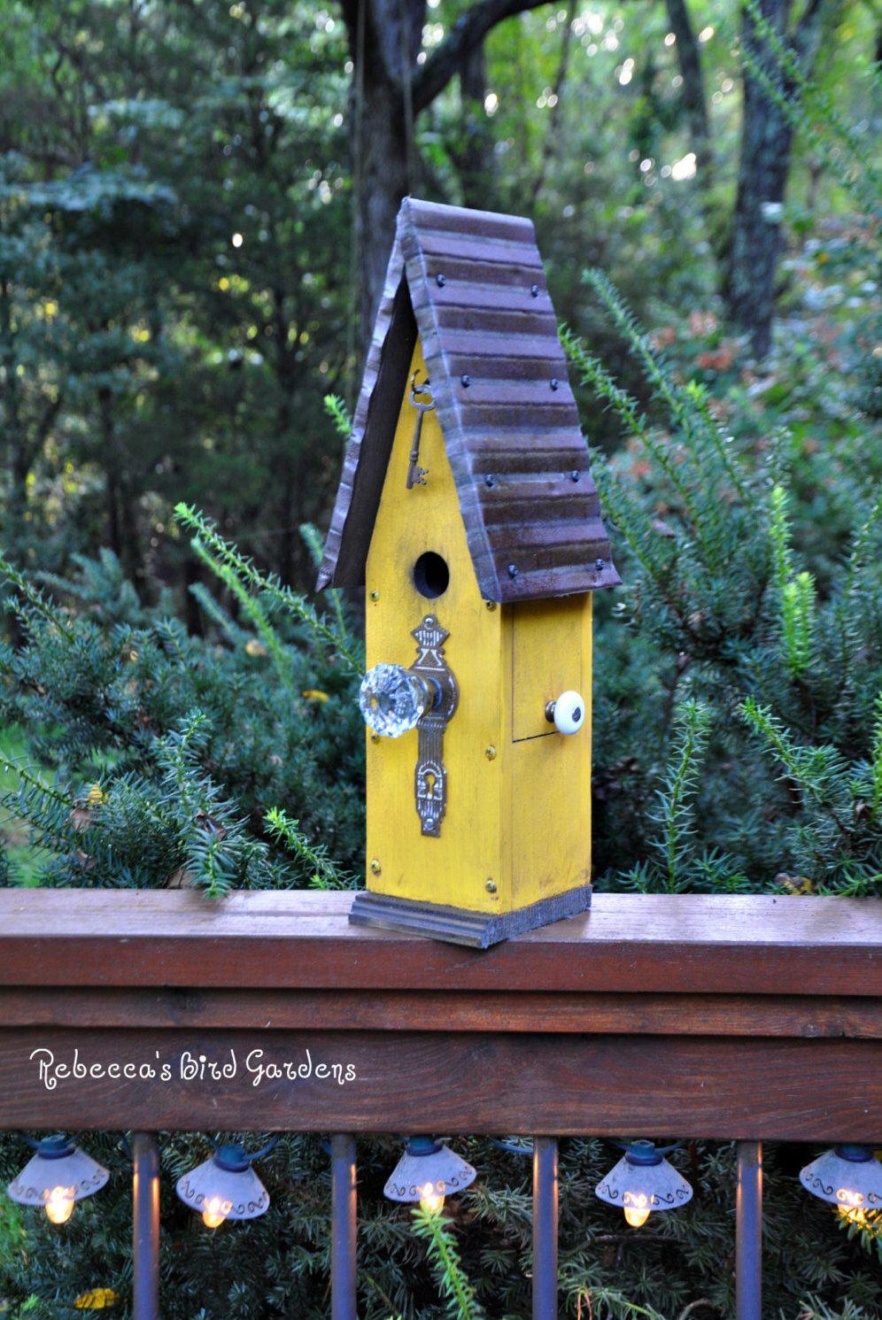 "Rustic Birdhouse ~ ""The Loft"" by RebeccasBirdGardens on Etsy https://www.etsy.com/listing/244712851/rustic-birdhouse-the-loft"