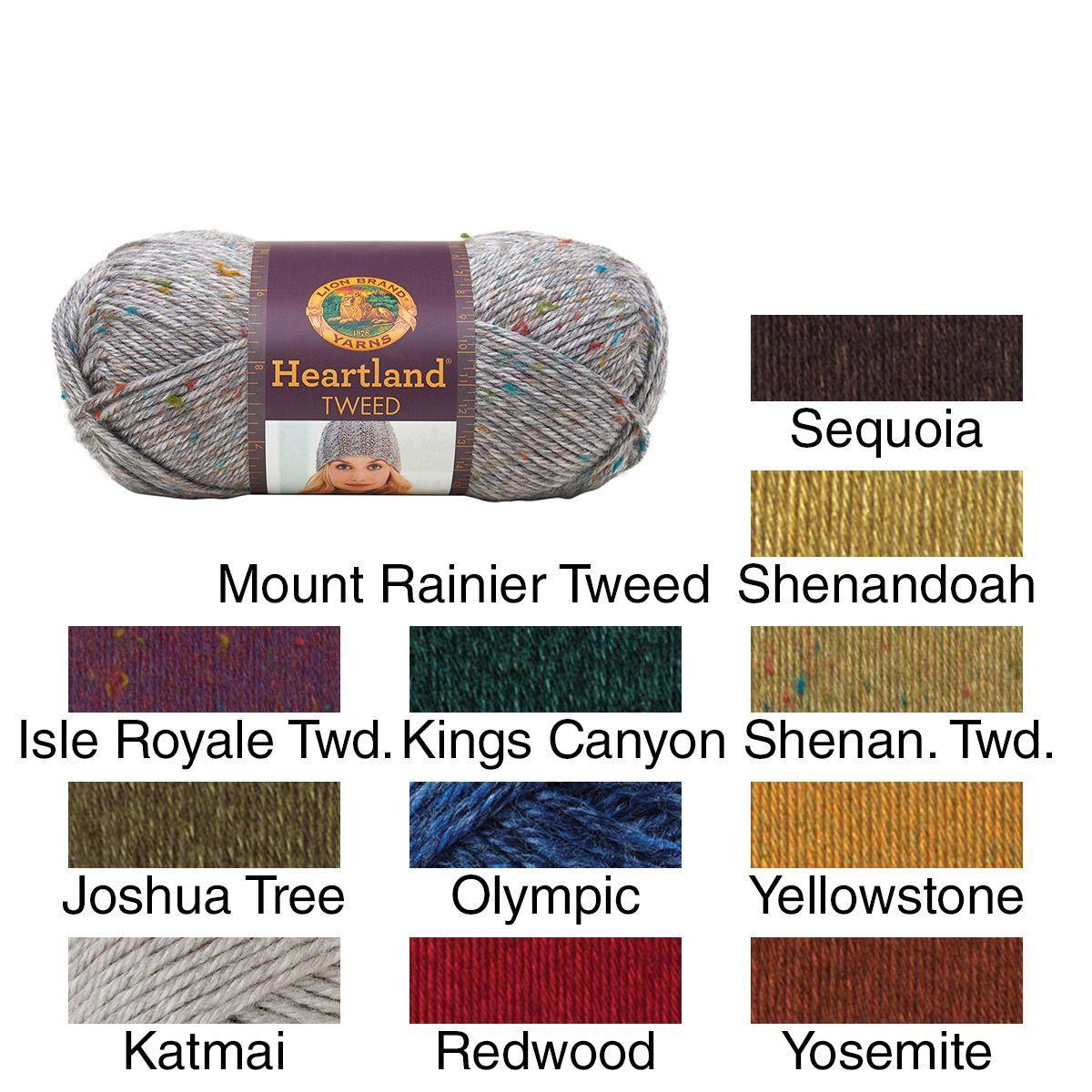Lion Brand Heartland Yarn (Joshua Tree), Blue wash   Lana