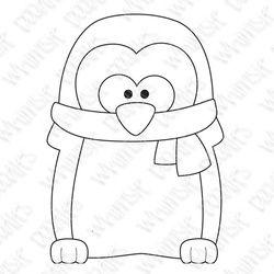 Christmas PenguinDigital TemplatePattern  Paper Craft