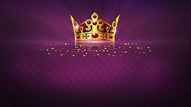 Crown Coronation Purple Poster Background Material