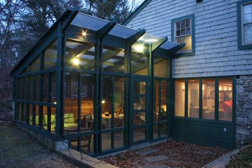 Screened Porch With Translucent Polygal Polycarbonate Sheet Roofing Lets In Light Porch Design Screened Porch Designs Modern Porch