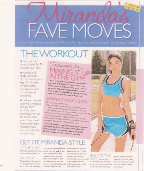 Miranda Kerr workout by Justin Gelband