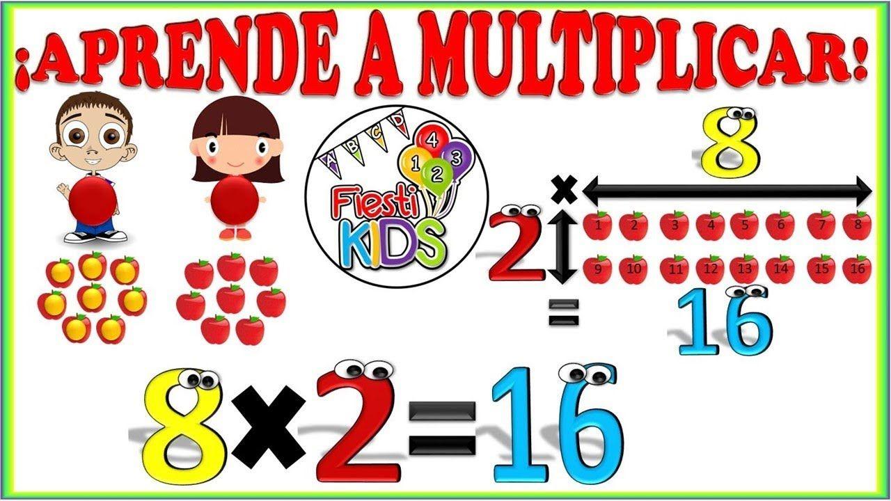 La Multiplicación Para Niños Explicación Y Ejemplos Sencillos Multipli Multiplicacion Lectura De Comprensión Videos Educativos