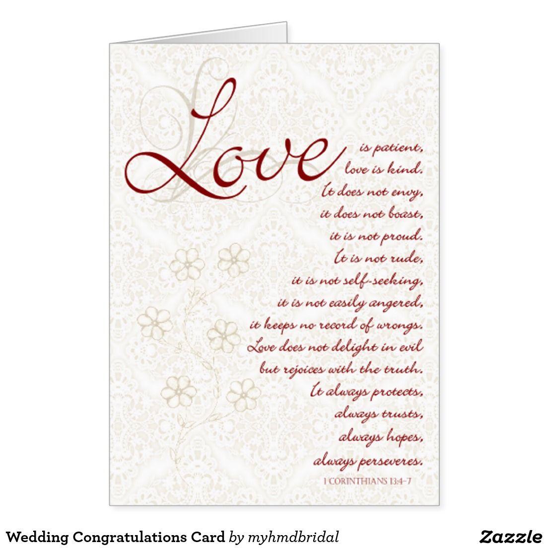 Wedding Congratulations Card Wedding