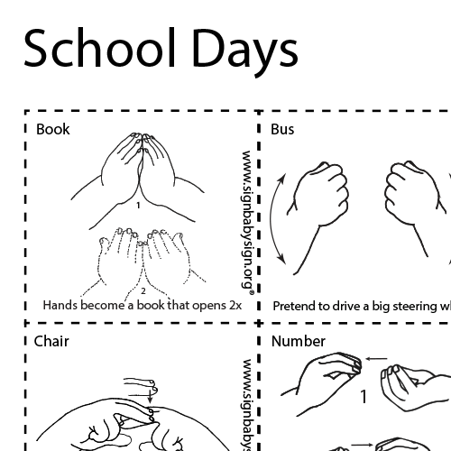 Asl Flash Cards School Days Asl Teaching Resources Makaton Signs Flashcards Sign Language Phrases