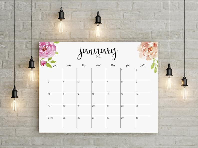 Fsu Academic Calendar 2022.2021 Printable Calendar 2021 Large Wall Calendar 2021 Big Etsy In 2021 Calendar Printables Large Wall Calendar Wall Calendar