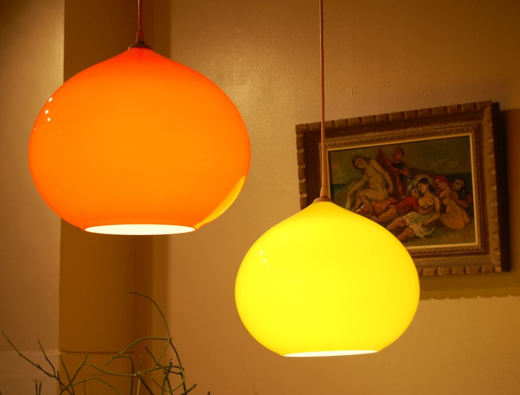 Pin By Keiko Lampen On Orange Pendant Lights Glass Shade Pendant